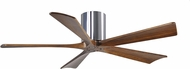 Matthews IR5H-CR-52 Irene Modern Polished Chrome Interior/Exterior 52  5 Blade Hugger-style Paddle Ceiling Fan