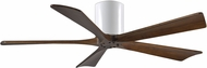 Matthews IR5H-WH-52 Irene Contemporary Gloss White Interior/Exterior 52  5 Blade Hugger-style Paddle Ceiling Fan