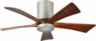 Matthews IR5HLK-BN Irene Contemporary Brushed Nickel Interior/Exterior 5 Blade Hugger-style Paddle Ceiling Fan
