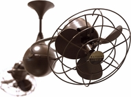 Matthews IV-BZZT-MTL Italo Ventania Contemporary Bronzette Interior/Exterior 53  Rotational Ceiling Fan with Metal Blades