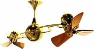 Matthews IV-GOLD-WD Italo Ventania Contemporary Gold Interior/Exterior 53  Rotational Home Ceiling Fan with Mahogany Blades