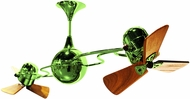 Matthews IV-LTGREEN-WD Italo Ventania Contemporary Light Green Interior/Exterior 53  Rotational Home Ceiling Fan with Mahogany Blades