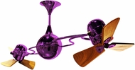 Matthews IV-PURPLE-WD Italo Ventania Contemporary Light Purple Interior/Exterior 53  Rotational Ceiling Fan with Mahogany Blades