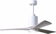 Matthews PA3-WH-BW-52 Patricia Contemporary Gloss White LED Barnwood Blade 52  Home Ceiling Fan