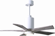Matthews PA5-WH-BW-42 Patricia Contemporary Gloss White LED Barnwood Blade 42  Ceiling Fan
