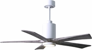 Matthews PA5-WH-BW-52 Patricia Modern Gloss White LED Barnwood Blade 52  Home Ceiling Fan