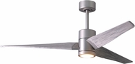 Matthews SJ-BN-BW-60 Super Janet Contemporary Brushed Nickel LED Barn Wood Blade 60  Ceiling Fan
