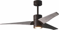 Matthews SJ-TB-BW-52 Super Janet Contemporary Textured Bronze LED Barn Wood 52  Home Ceiling Fan