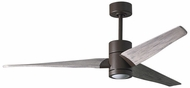 Matthews SJ-TB-BW-60 Super Janet Contemporary Textured Bronze LED Barn Wood 60  Ceiling Fan