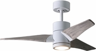 Matthews SJ-WH-BW-42 Super Janet Contemporary Gloss White LED Barn Wood Blade 42  Ceiling Fan