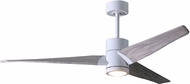 Matthews SJ-WH-BW-60 Super Janet Contemporary Gloss White LED Barn Wood Blade 60  Ceiling Fan