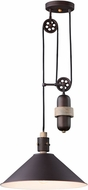 Maxim 10090OIWWD Tucson Contemporary Oil Rubbed Bronze / Weathered Wood Lighting Pendant