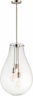 Maxim 10164CLSN Gourd Contemporary Satin Nickel Hanging Pendant Lighting