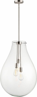 Maxim 10166CLSN Gourd Contemporary Satin Nickel Hanging Pendant Light