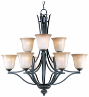Maxim 10177WSOI Madera Large 9-light Oil-Rubbed Bronze Chandelier with Shades