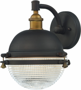 Maxim 10182OIAB Portside Contemporary Oil Rubbed Bronze / Antique Brass Outdoor Wall Sconce