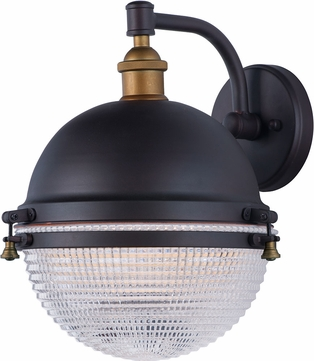 Maxim 10186OIAB Portside Modern Oil Rubbed Bronze / Antique Brass Outdoor Wall Sconce