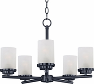 Maxim 10205FTBK Corona Black Mini Hanging Chandelier