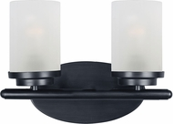 Maxim 10212FTBK Corona Black 2-Light Vanity Lighting
