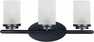 Maxim 10213FTBK Corona Black 3-Light Vanity Light