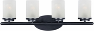 Maxim 10214FTBK Corona Black 4-Light Bath Light Fixture