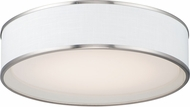 Maxim 10223WLSN Prime Contemporary Satin Nickel LED 20  Flush Mount Lighting Fixture