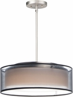 Maxim 10224BOSN Prime Modern Satin Nickel LED 16  Drum Drop Lighting