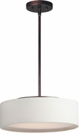 Maxim 10224OMOI Prime Modern Oil Rubbed Bronze LED 16  Drum Ceiling Light Pendant