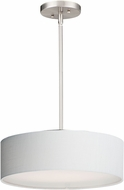 Maxim 10224WLSN Prime Contemporary Satin Nickel LED 16  Drum Ceiling Pendant Light