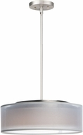 Maxim 10224WOSN Prime Modern Satin Nickel LED 16  Drum Drop Ceiling Light Fixture