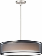 Maxim 10226BOSN Prime Modern Satin Nickel LED 20  Drum Pendant Lighting