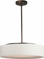 Maxim 10226OMOI Prime Modern Oil Rubbed Bronze LED 20  Drum Lighting Pendant
