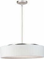 Maxim 10226WLSN Prime Contemporary Satin Nickel LED 20  Drum Pendant Lamp