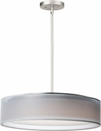 Maxim 10226WOSN Prime Modern Satin Nickel LED 20  Drum Hanging Lamp