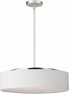 Maxim 10226WWSN Prime Contemporary Satin Nickel LED 20  Drum Hanging Light