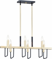 Maxim 10259BKGLD Sullivan Contemporary Black / Gold Island Lighting