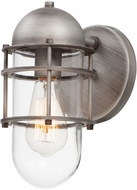 Maxim 10262CLWZ Seaside Nautical Weathered Zinc Outdoor Wall Lamp