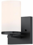 Maxim 10281SWBK Lateral Modern Black Wall Light Sconce