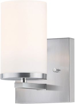 Maxim 10281SWSN Lateral Contemporary Satin Nickel Wall Sconce Light