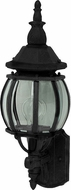 Maxim 1032BK Crown Hill Traditional Black Outdoor 18 Wall Sconce Light
