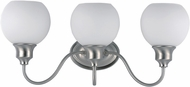 Maxim 1113SWSN Ballord Modern Satin Nickel 3-Light Bathroom Light