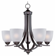 Maxim 11225FTOI Axis Medium 24 Inch Diameter Transitional Lighting Chandelier - Bronze