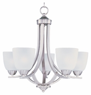Maxim 11225FTSN Axis Medium Transitional 5 Lamp Satin Nickel Chandelier Light Fixture