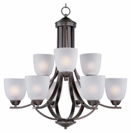 Maxim 11226FTOI Axis Large 9 Lamp 28 Inch Diameter Lighting Chandelier - Oil Rubbed Bronze