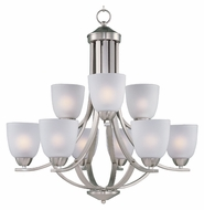 Maxim 11226FTSN Axis 28 Inch Diameter Satin Nickel Transitional 9 Light Chandelier
