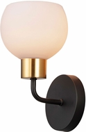 Maxim 11271SWBZSBR Coraline Contemporary Bronze Rupert Lighting Sconce