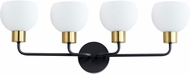 Maxim 11274SWBZSBR Coraline Contemporary Bronze Rupert 4-Light Bathroom Light Fixture