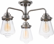 Maxim 11330CLWZ Cape Cod Modern Weathered Zinc Flush Lighting