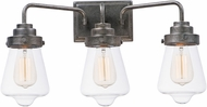 Maxim 11332CLWZ Cape Cod Modern Weathered Zinc 3-Light Bathroom Lighting