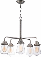 Maxim 11335CLWZ Cape Cod Contemporary Weathered Zinc Chandelier Lighting